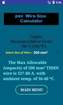 Pec wire size calculator free for android apk download pec wire size calculator free screenshot 5 greentooth Gallery