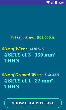 Pec conductor size calc free for android apk download pec conductor size calc free poster greentooth Images