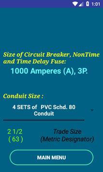 PEC Conductor Size Calc FREE screenshot 1