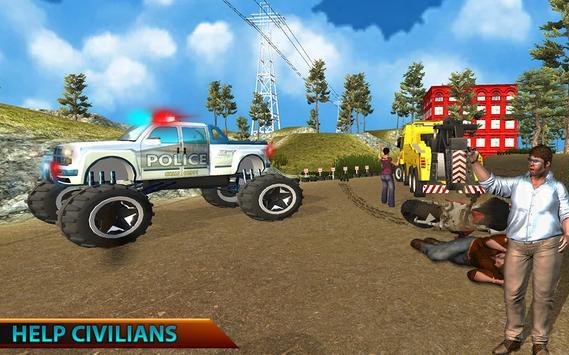 Monster Truck Police Rescue apk screenshot