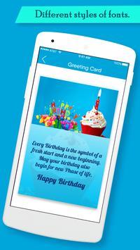 Birthday Greeting Cards Maker screenshot 2