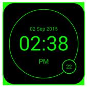 LED Digital Clock - minimal icon