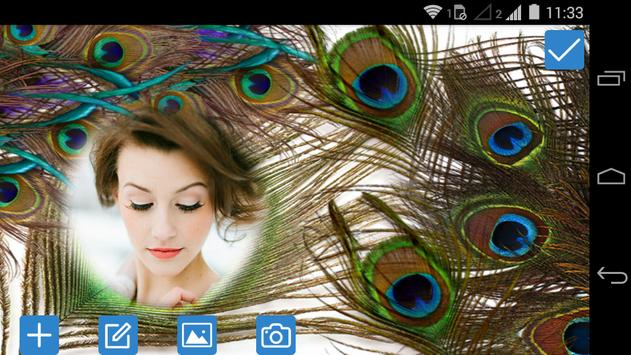 Peacock Feathers Photo Frame screenshot 5