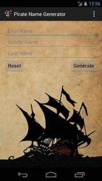 Pirate Name Generator poster