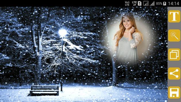 Snowfall Photo Frames screenshot 10