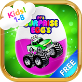 Monster Trucks Surprise Eggs For Kids 1-8 year old icon