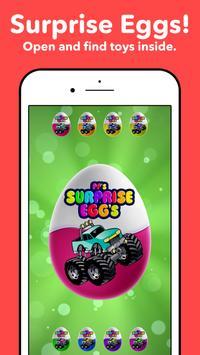 Monster Trucks Surprise Eggs For Kids 1-8 year old poster