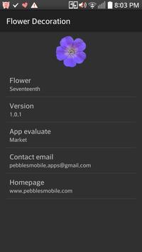 Flower widget apk screenshot