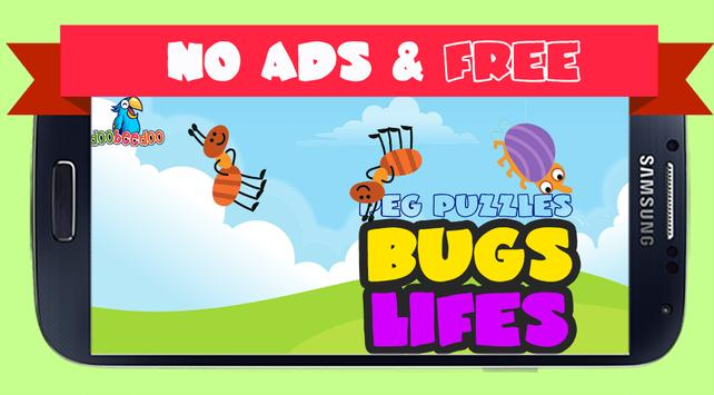 Peg Puzzle For Kids BugsLifes poster
