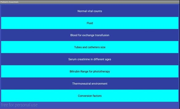 Pediatric Essentials apk screenshot