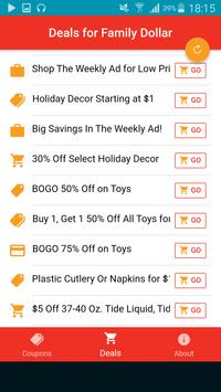 Family Dollar Free Coupons Up To 70% - Make money for Android - APK