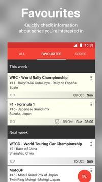 Racing Calendar screenshot 1