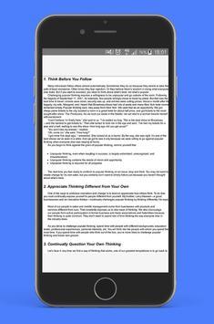 How Successful People Think - free PDF apk screenshot