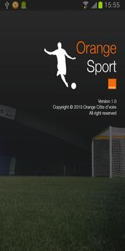Orange sport poster