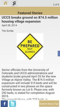 Scribe UCCS News App apk screenshot