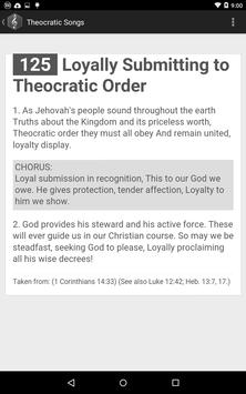 Theocratic Songs apk screenshot
