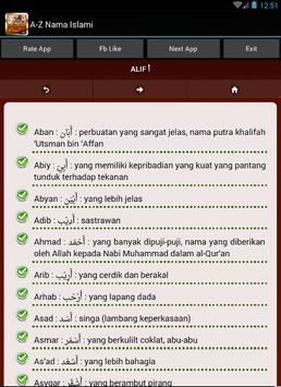 Nama Bayi Islami A-Z apk screenshot