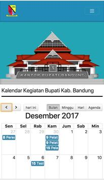 Agenda Bupati  Bandung poster