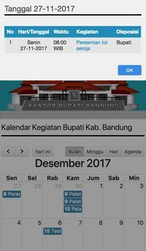 Agenda Bupati  Bandung screenshot 1