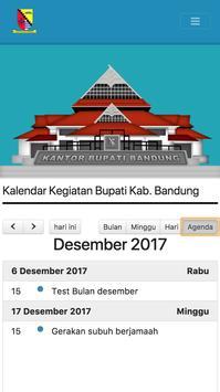 Agenda Bupati  Bandung screenshot 3