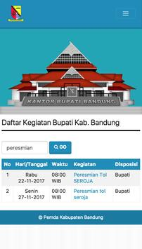 Agenda Bupati  Bandung screenshot 4