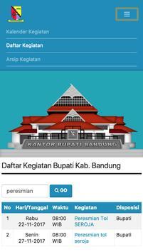 Agenda Bupati  Bandung screenshot 5