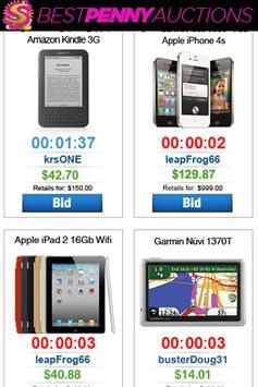 #1 Best Penny Auctions apk screenshot