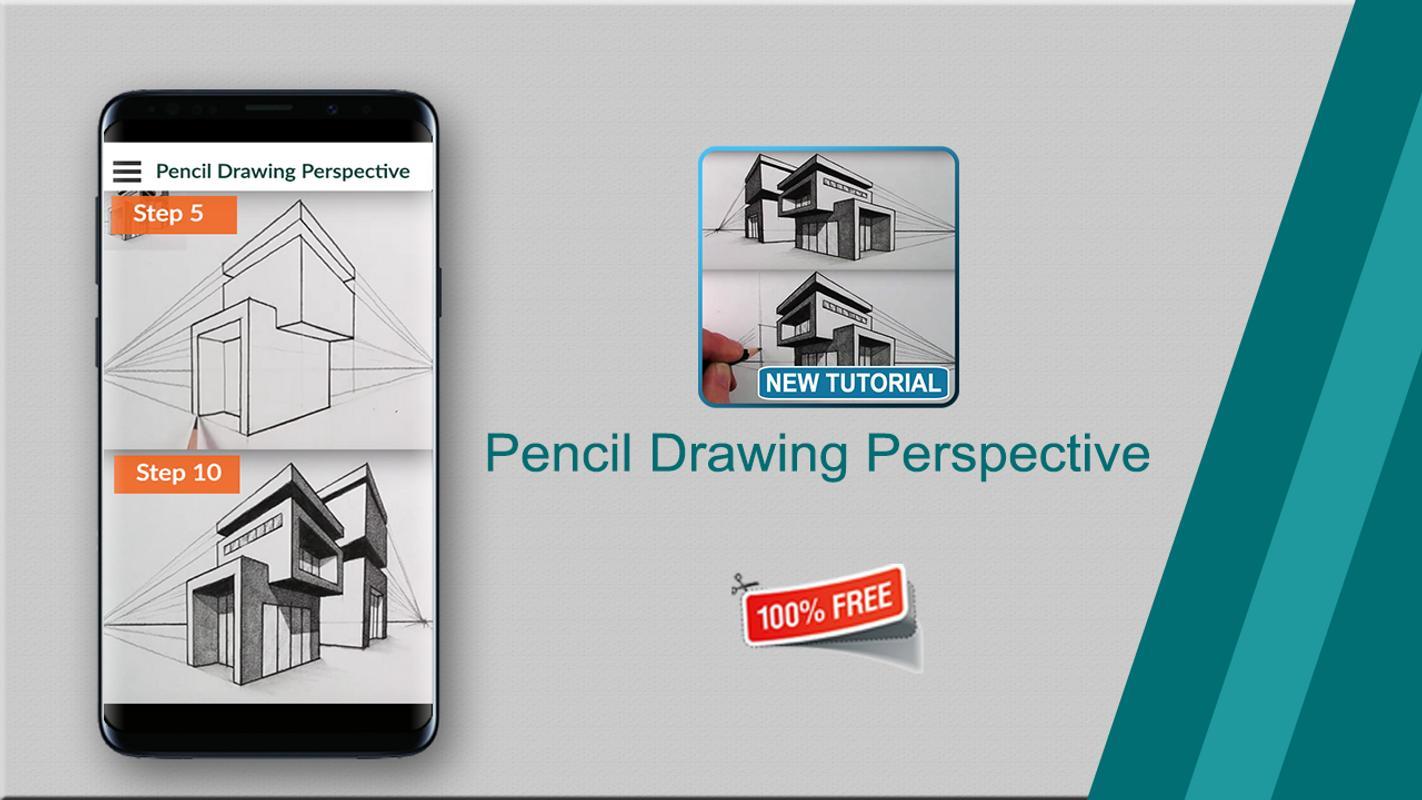 Perspektif gambar pensil poster