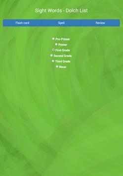 Sight Words - Dolch List apk screenshot