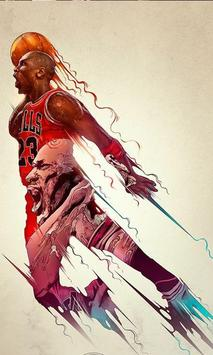 Michael Jordan 4K HD Lock Screen poster