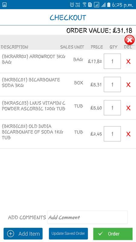 Penta Foods Product List