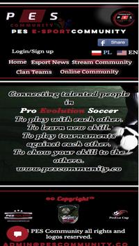PES Community poster