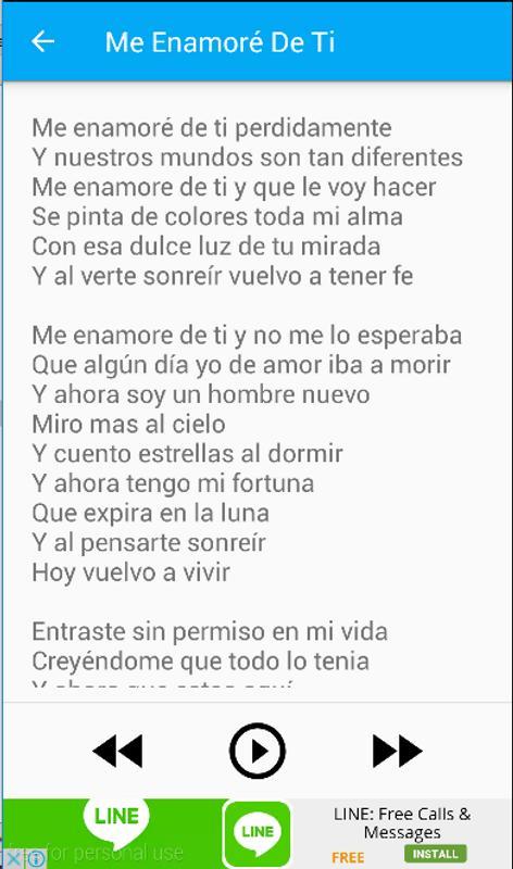 David Bisbal Me Enamore De Ti For Android Apk Download