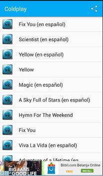 Coldplay Songs & Lyrics screenshot 1