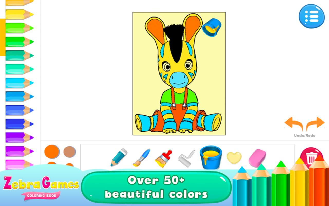 Zebra Games Coloring Books APK Download  Free Educational GAME