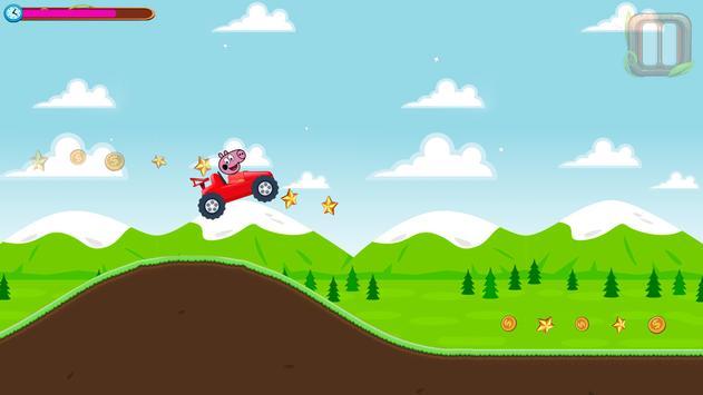 Red Pepa Pig Car apk screenshot