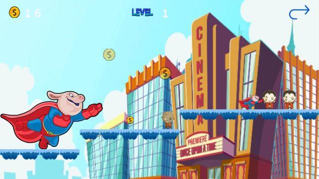 Super Hipo Pig - Adventure Pepa Hero apk screenshot