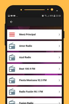 Radios de Mexico music player online for free apk screenshot