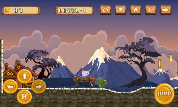 Peppa Hill Climb Racer : Pig apk screenshot