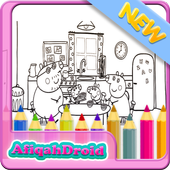 Coloring Peppa Kids icon