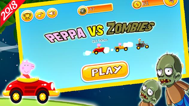 Peppa Pig vs Zombies poster