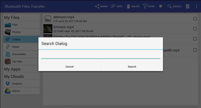 Bluetooth File Transfer screenshot 1