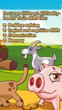 Animal puzzle for kids farm HD apk screenshot