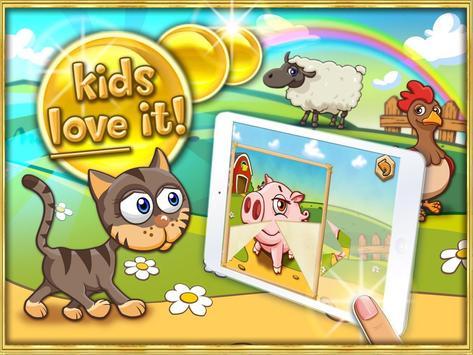 Animal puzzle for kids farm HD apk screenshot