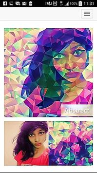 Photo editor - Abstract art filter poster