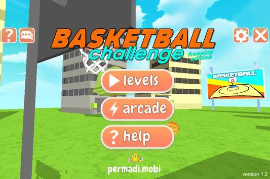 Basketball Master Challenge-Throw Ball into Basket poster