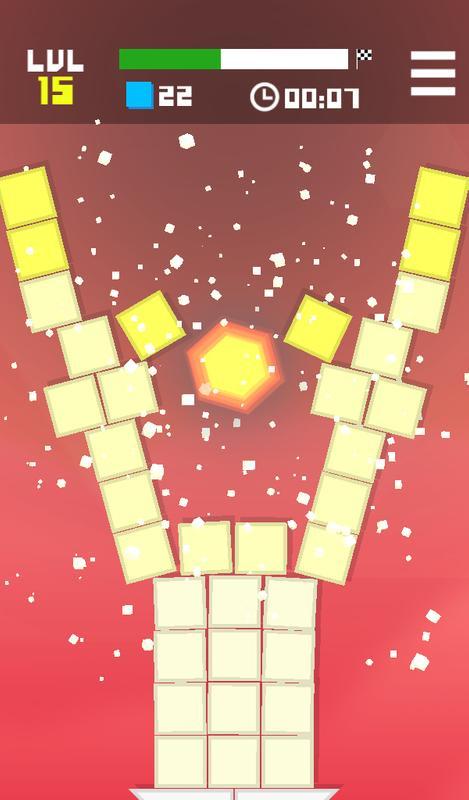 physics games hexagon fall
