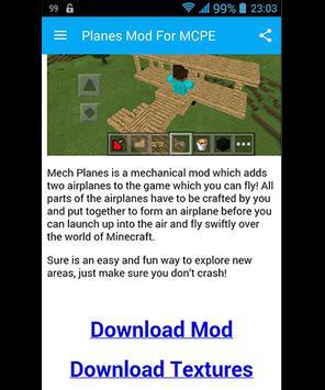 Planes Mod For MCPE screenshot 1