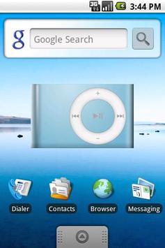 DroidPod Shuffle Blue poster