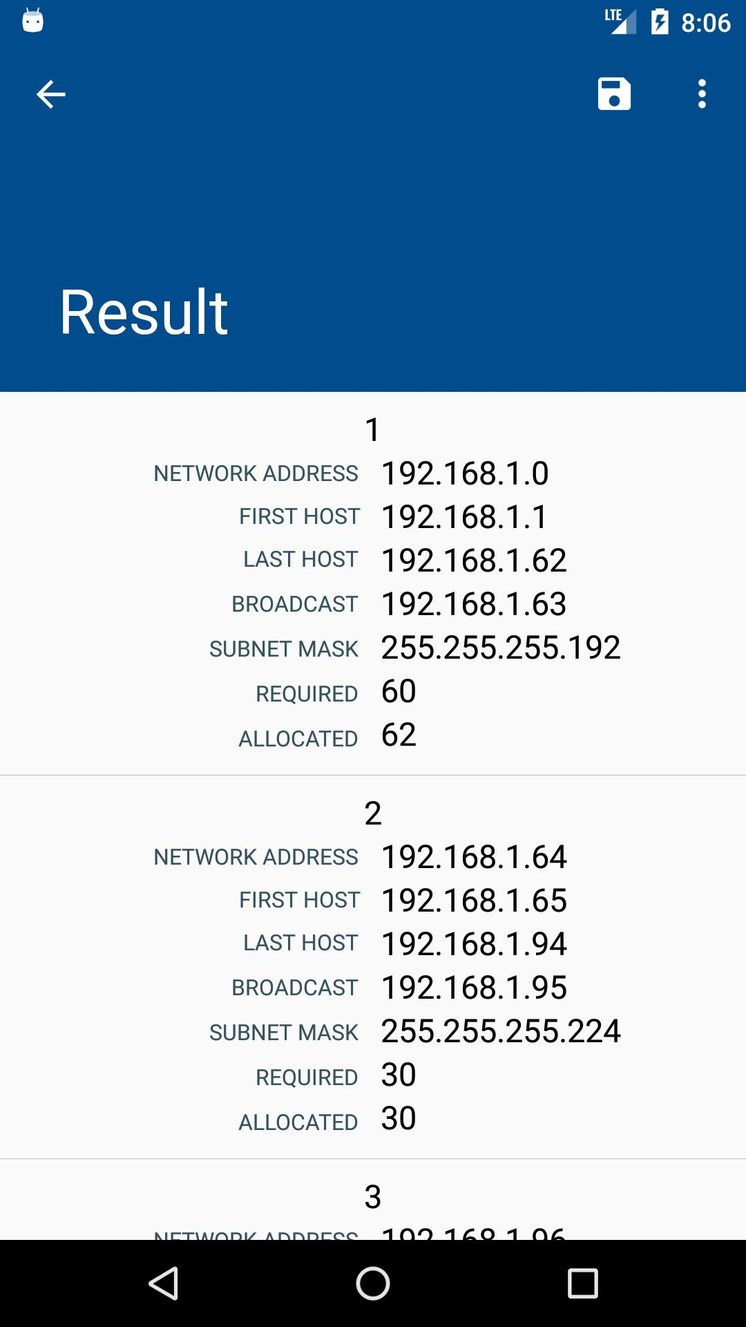 Ipv4 Calculator Subnetting Vlsm For Android Apk Download